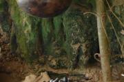 Allestimento grotta con repliche preistoriche