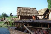 plastico archeologico ricostruzione abitato etrusco