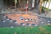 plastico archeologico area di scavo