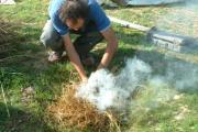 esperimento cottura ceramica preistorica fosse di combustione